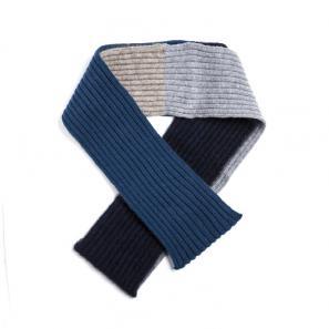 新西兰Merinomink美利奴羊毛混纺女士针织围巾 蓝色