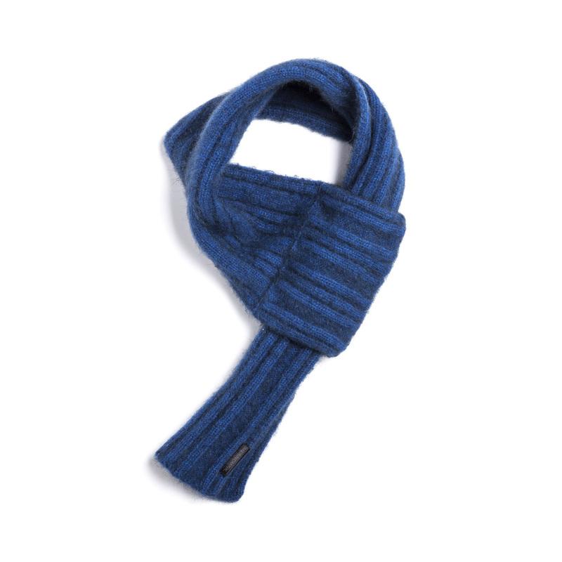 新西兰Merinomink美利奴羊毛混纺针织围巾 蓝色