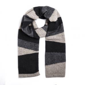 新西兰Merinomink美利奴羊毛混纺针织围巾 深灰