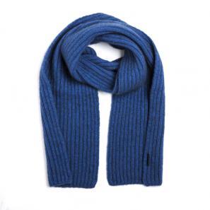 新西兰Merinomink美利奴羊毛混纺男士针织围巾 蓝色