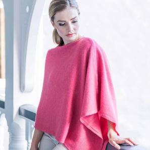 新西兰Merinomink美利奴羊毛驼羊毛混纺女士针织披肩 粉红