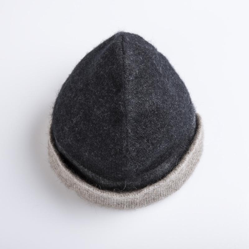 新西兰Merinomink美利奴羊毛混纺女士针织帽子 黑色