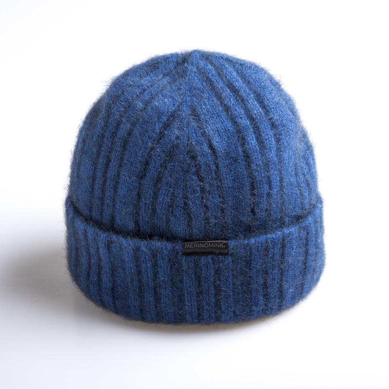 新西兰Merinomink美利奴羊毛混纺针织帽子 蓝色