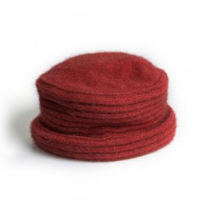 新西兰Merinomink美利奴羊毛混纺女士针织帽子 红色