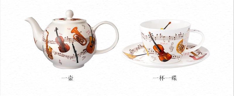 乐器系列茶具图