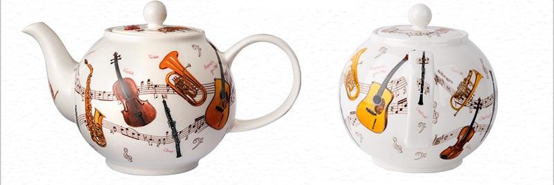 乐器系列茶壶正反