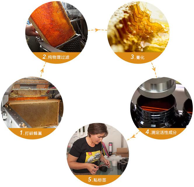 麦卢卡蜂蜜纯物理加工工艺