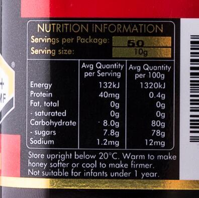 麦卢卡蜂蜜成分表