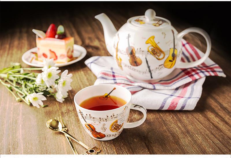 英国丹侬Dunoon骨瓷茶壶水壶茶具/乐器