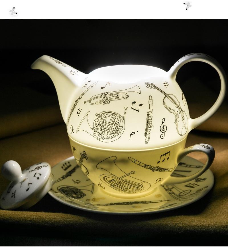 乐器系列一壶一碟骨瓷茶具