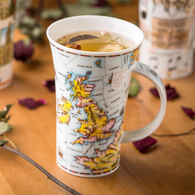 英国丹侬Dunoon骨瓷杯马克杯港湾