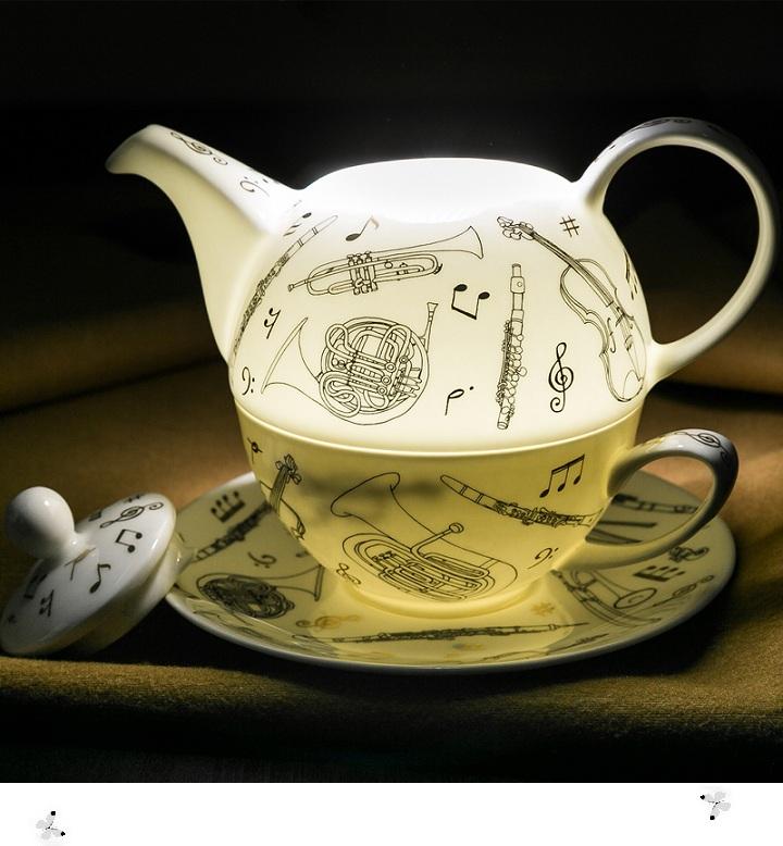 乐器系列一体式茶壶