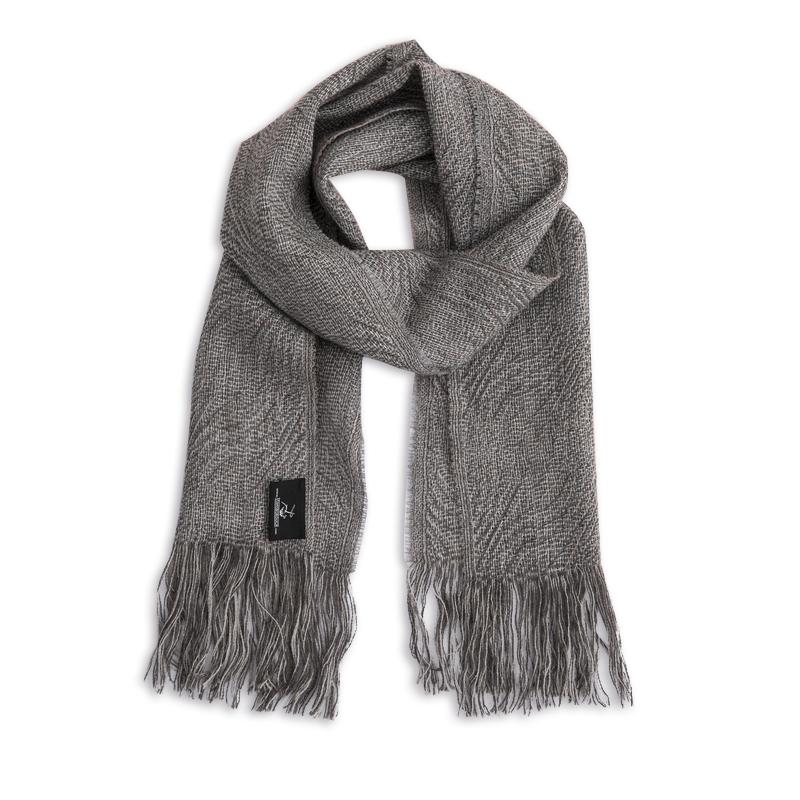 新西兰Stansborough指环王系列灰羊毛保暖围巾 灰蓝