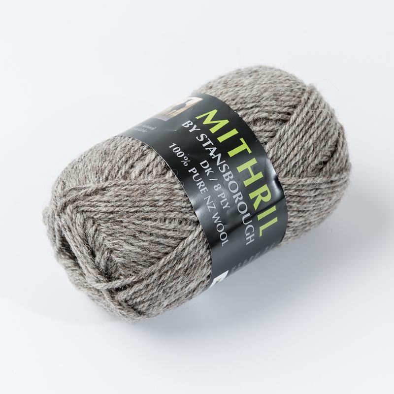 新西兰原产Stansborough指环王围巾/手套编织灰羊毛线 中灰