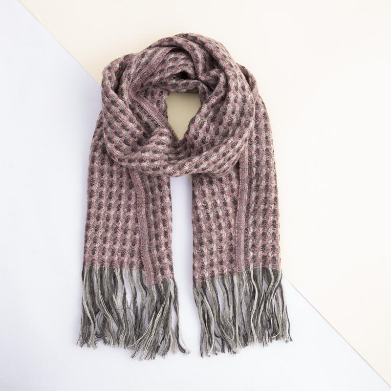 新西兰原产Stansborough指环王系列灰羊毛贝壳杉编织围巾 浅灰