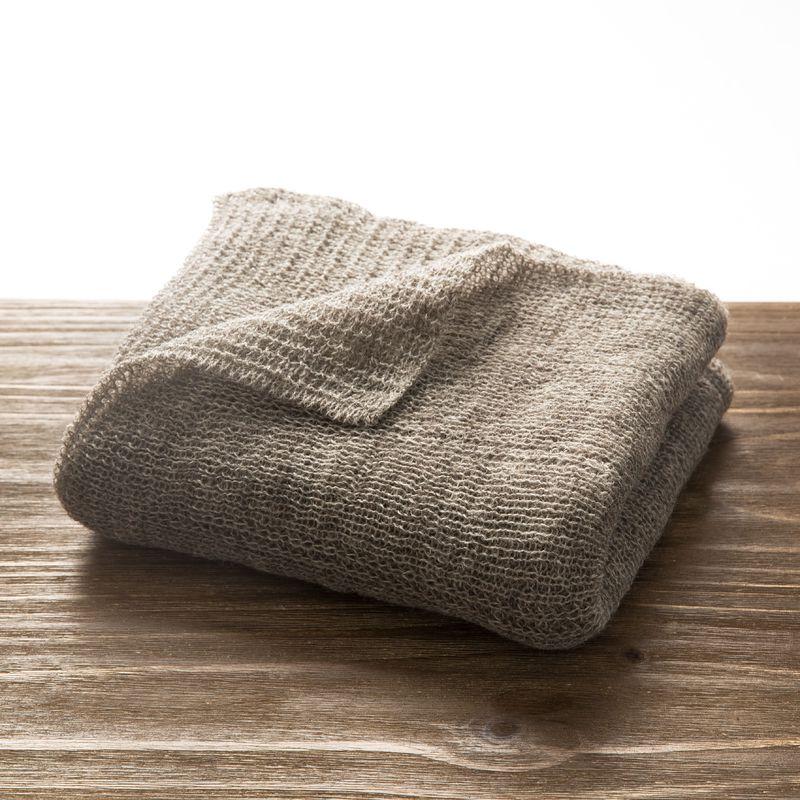 新西兰原产Stansborough指环王灰羊毛针织婴儿车毯盖毯 中灰