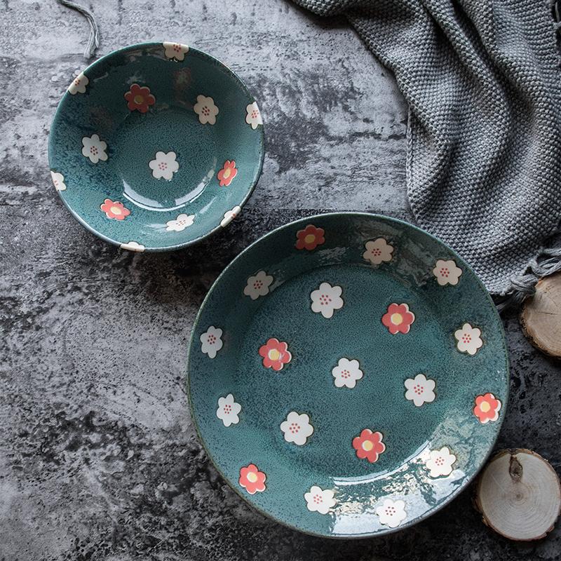 AITO美浓烧陶瓷碗碟套装 【Nordic-Flower四季餐桌系列】春意