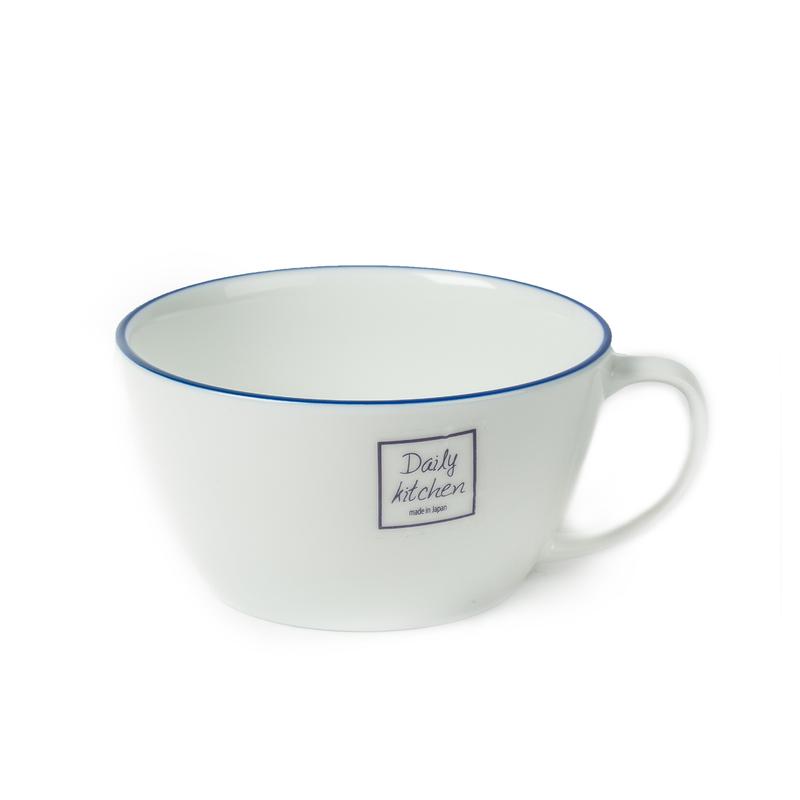 日本原产AITO美浓烧陶瓷碗带把手小碗 【Daily系列】白色