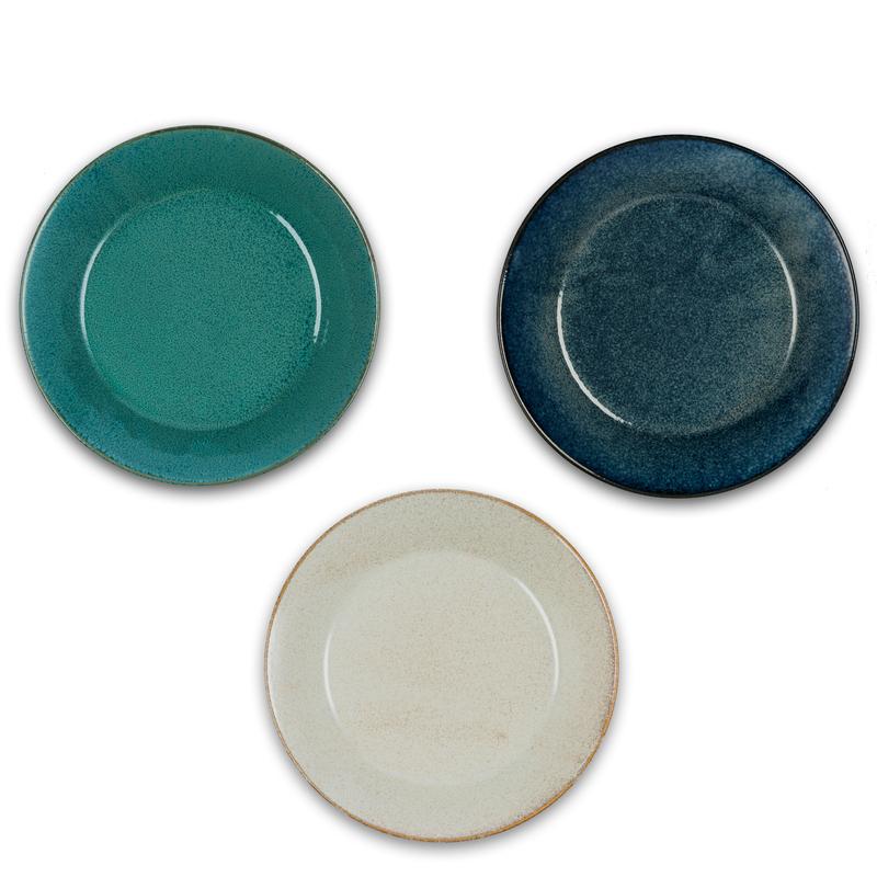 日本原产AITO美浓烧深口碟餐碟套装 【Natural-color摩登三色】