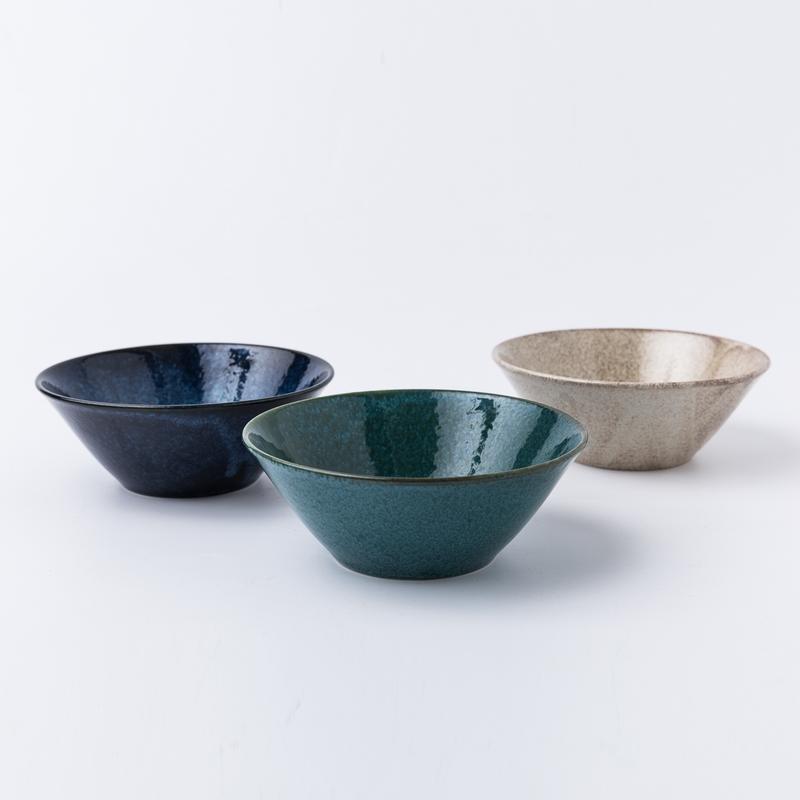日本原产AITO美浓烧三色碗套装 【Natural-color摩登三色】