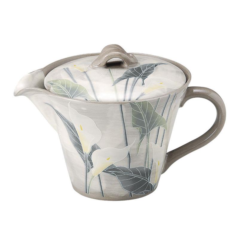 日本AITO濑户烧陶瓷茶壶不锈钢滤网 【抚松庵系列】马蹄莲