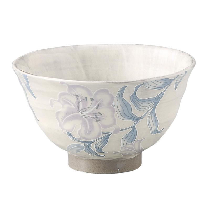 日本AITO濑户烧陶瓷饭碗面碗汤碗 【抚松庵系列】百合花