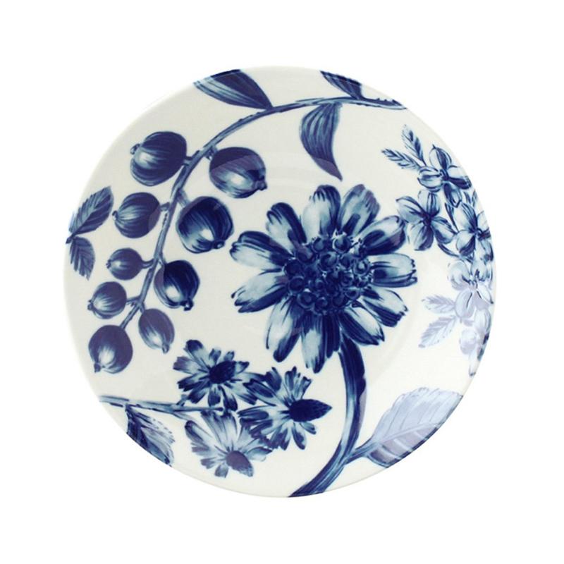 日本AITO美浓烧陶瓷浅口碗汤面碗 【Botamical系列】西番莲