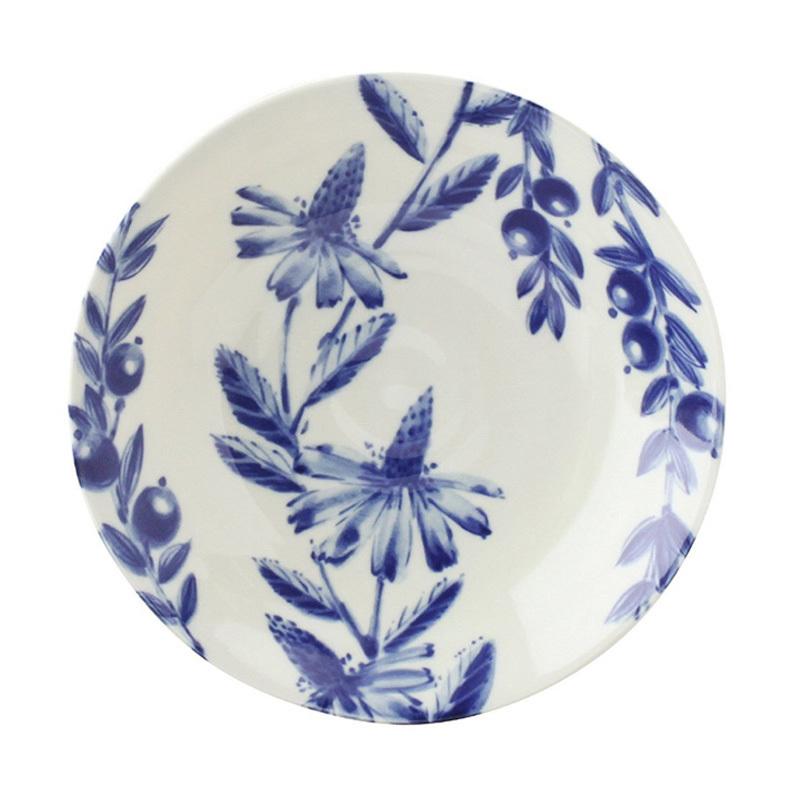 日本AITO美浓烧陶瓷盘早午餐盘深口碟 【Botamical系列】雏菊