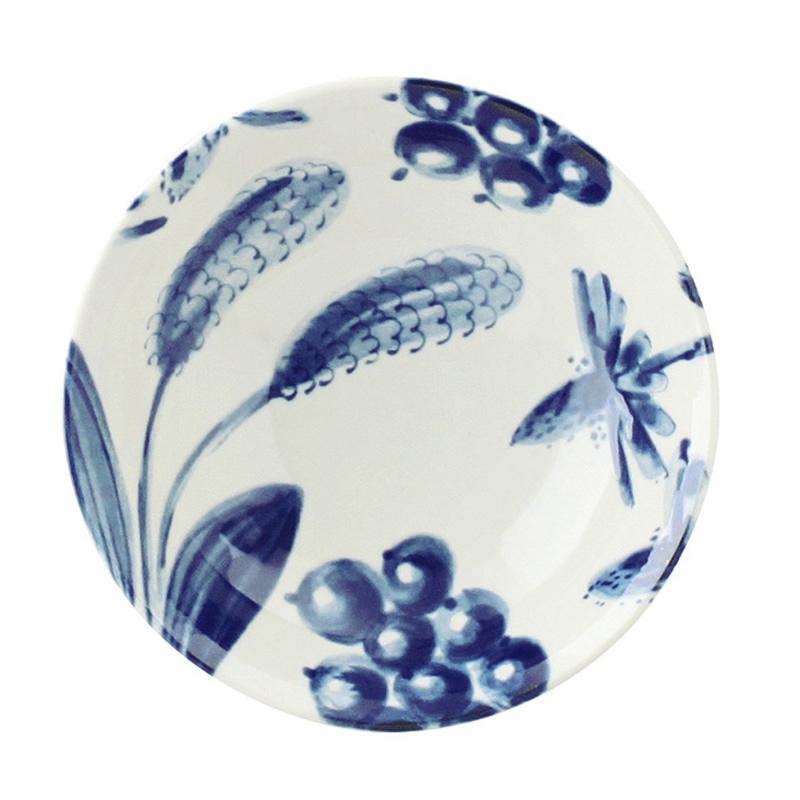 日本AITO美浓烧陶瓷早午餐盘深口碟 【Botamical系列】薰衣草