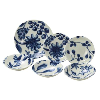 日本AITO美浓烧陶瓷餐盘餐碟餐碗6件套 【Botamical系列】
