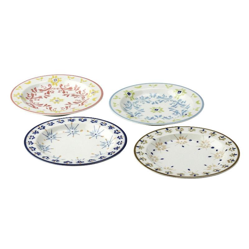 日本AITO美浓烧陶瓷碟子盘子4件套 【Diane-Harrison系列】4色装