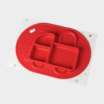 韩国原产MathosLoreley 一体式硅胶餐盘防滑餐垫汽车形状