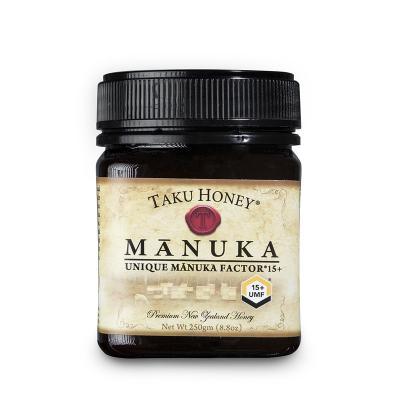 新西兰原产Taku 塔库麦卢卡蜂蜜UMF15+棕色瓶装250g养胃养颜
