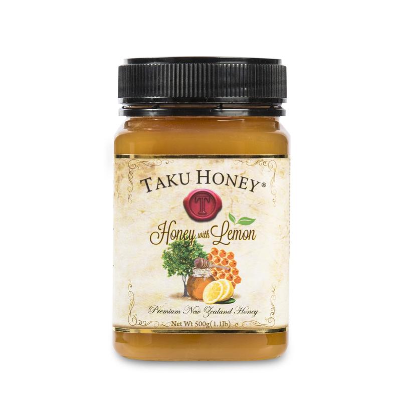 新西兰原产TAKU塔库蜂蜜 柠檬味补充VC棕色500g