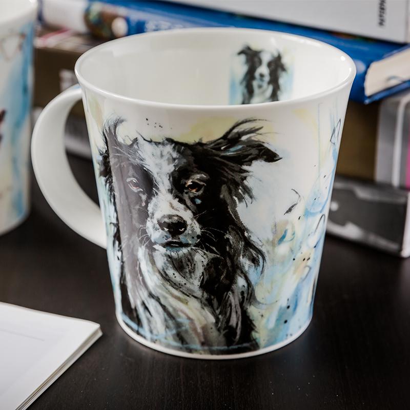 DUNOON 英国丹侬DUNOON骨瓷杯马克杯油画牧羊犬