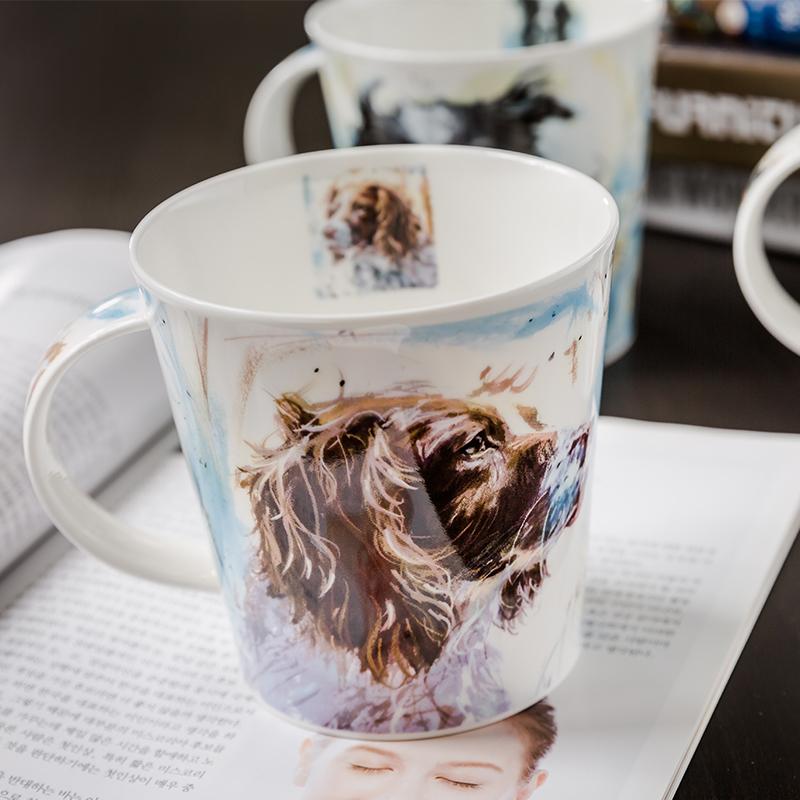 DUNOON 英国丹侬DUNOON骨瓷杯马克杯油画斯宾格猎犬