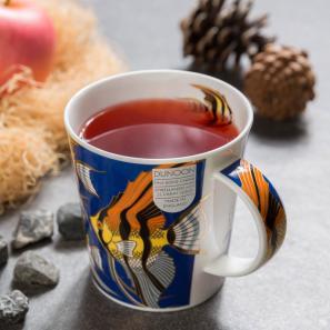DUNOON 英国丹侬DUNOON骨瓷杯马克杯金鱼系列深蓝底