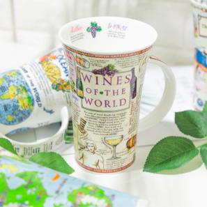 DUNOON 英国丹侬DUNOON骨瓷杯马克杯红酒世界