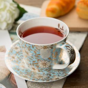 DUNOON 英国丹侬DUNOON骨瓷茶杯咖啡杯浅绿小花