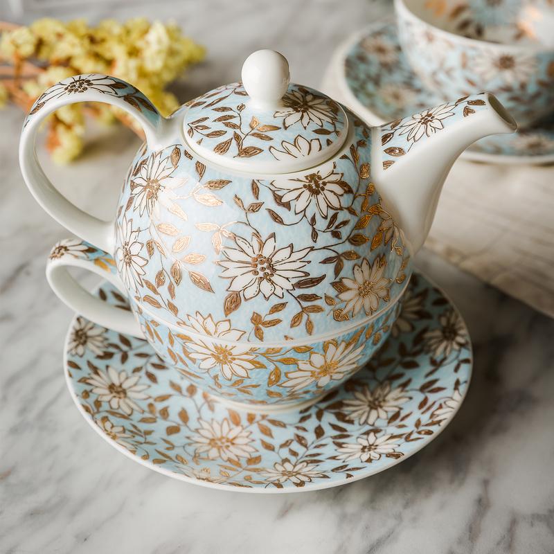 DUNOON 英国丹侬Dunoon骨瓷茶壶水壶茶具套装