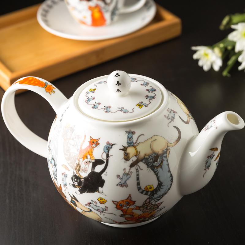 DUNOON 英国丹侬Dunoon骨瓷茶壶水壶茶具/猫