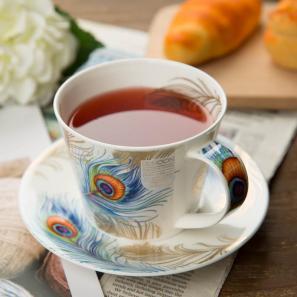 DUNOON 英国丹侬DUNOON骨瓷茶杯咖啡杯羽毛