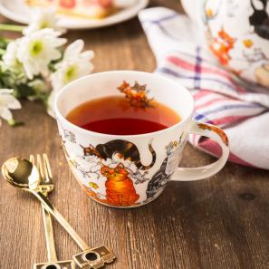 DUNOON 英国丹侬Dunoon骨瓷茶杯咖啡杯茶具猫
