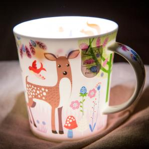 DUNOON 英国丹侬dunoon骨瓷杯马克杯快乐小鹿
