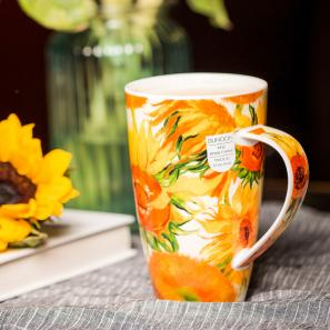 DUNOON 英国丹侬Dunoon骨瓷马克杯世界名画向日葵