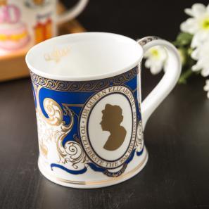 DUNOON 英国DUNOON丹侬骨瓷杯马克杯女王头像