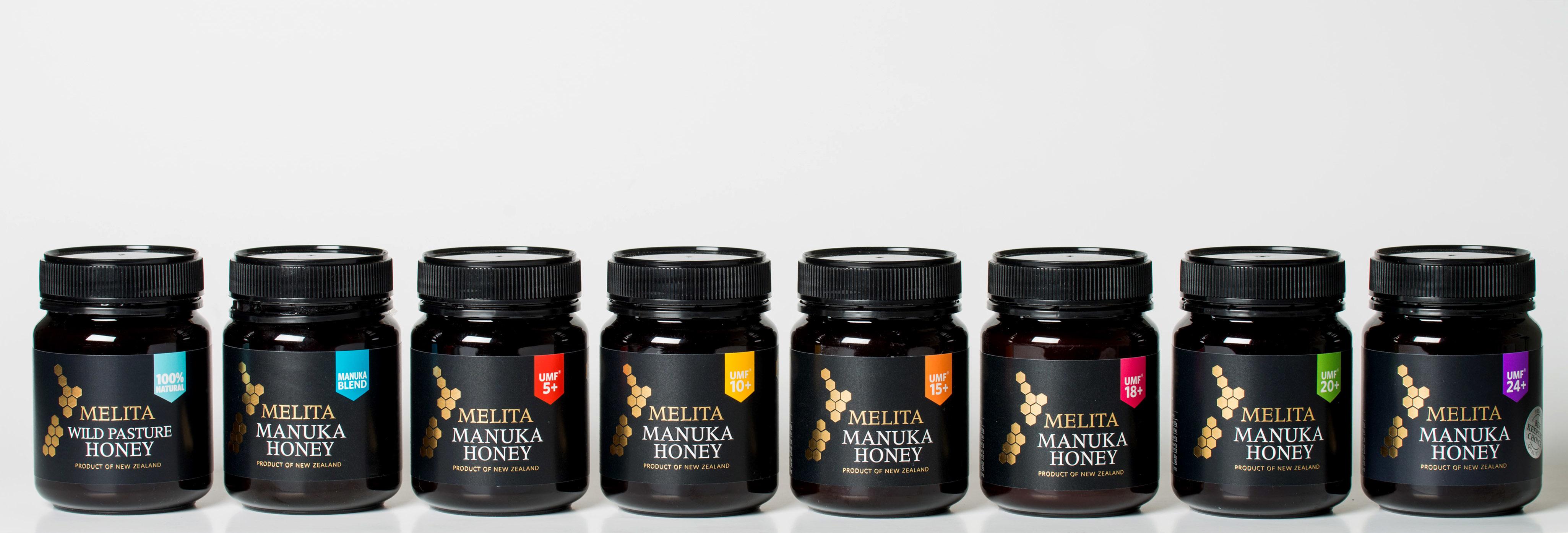 各种规格的新西兰melita麦卢卡蜂蜜