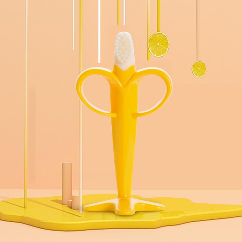 韩国原产Mathos Loreley婴儿牙胶婴儿硅胶牙胶玩具香蕉型