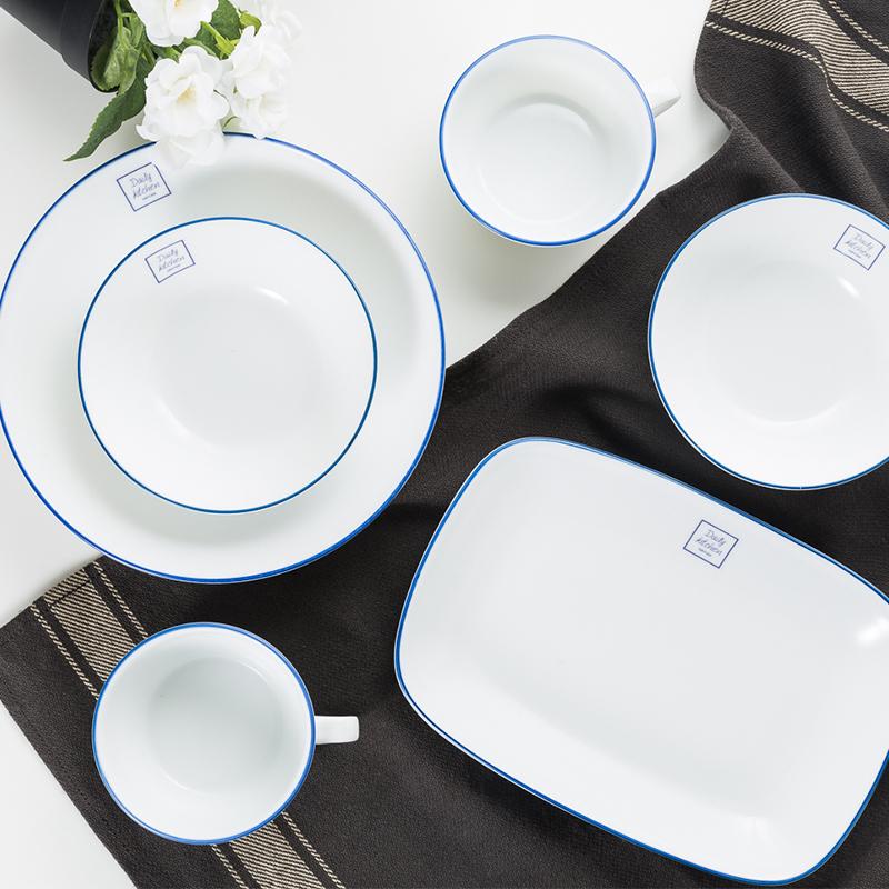 AITO美浓烧陶瓷餐具组合六件套礼盒装 Daily-kitchen系列白色