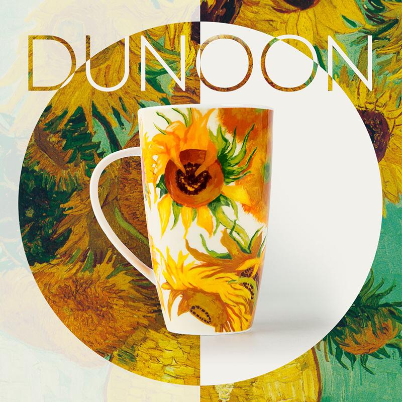英国原产DUNOON骨瓷杯 梵高向日葵